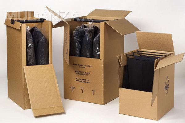 Cl sets de cart n para mudar tu ropa for Cajas para guardar ropa armario